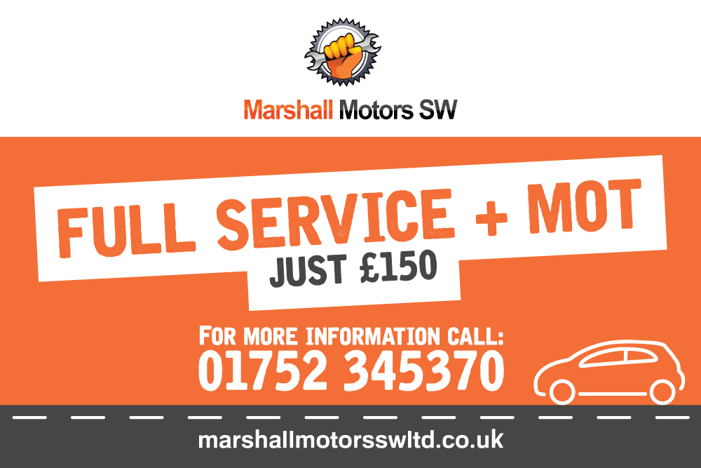 Full Service & MOT Just £150 At Marshall Motors